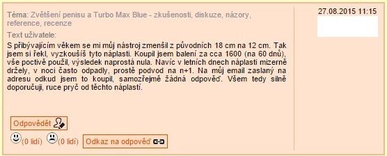 turbo max blue diskuze