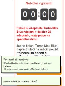 turbo max blue podvod