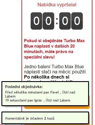 turbo max blue podvod