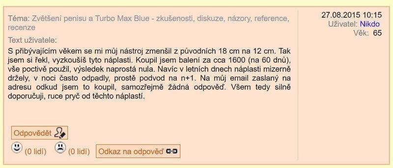 Turbo Max Blue zkušenosti